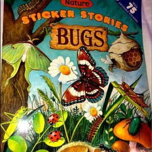 New Nature Sticker Stories Bugs Book